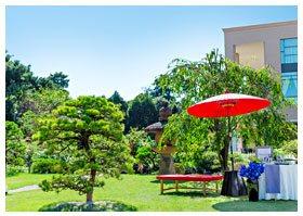 歴史的な日本庭園 写真